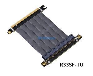 Image 2 - PCIE 3.0 ケーブル Pc e 16X x16 にアダプタケーブルグラフィックスビデオカード延長 90 度アングルデザイン ITX マザーボードシャーシ