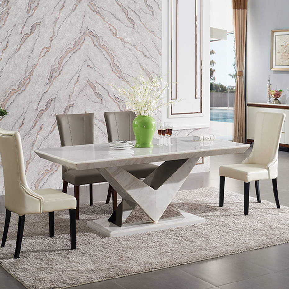 New arrival luxury dining room set 9 seats dining table marble dining tables