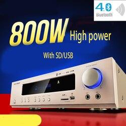 KYYSLB 800W 220V AK-558 Bluetooth Amplificatore A 5.1 Canali Home Theater Ktv Ad Alta Potenza AV Digitale Hifi Amplificatore Subwoofer SD USB