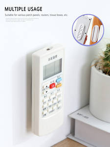 Home-free Wall-mounted Plug-in Board Router Plug-in Line Board Holder Adhesive Holder Without Perforation Install Bottom Board