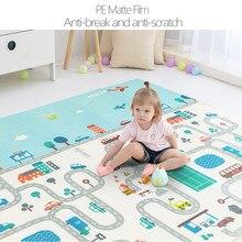 Crianças do bebê esteira do jogo do bebê crianças esteira da espuma xpe rastejando brinquedos do bebê ginásio dobrável desenvolvimento tapete crianças tapete playmat