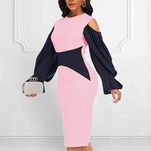 Женское розовое облегающее платье в стиле пэчворк с открытыми
