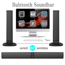 20W Wireless Column Soundbar Bluetooth Speaker Powerful 3D Music Sound bar Home Theater Aux 3.5mm rca TF card For TV PC BS36