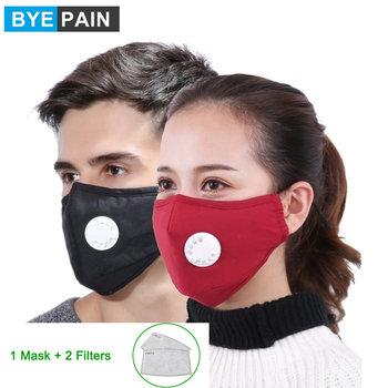 1Pcs BYEPAIN Dust Pollution Mask Dust Respirator Washable Reusable Masks Cotton Unisex Mouth Muffle for Asthma/Travel/ Cycling