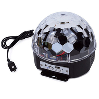 Disco Ball Lights Party Lights Sound Activated Party Lights with Remote Control USB 6 Colors DJ Light Connection LED Stage Light