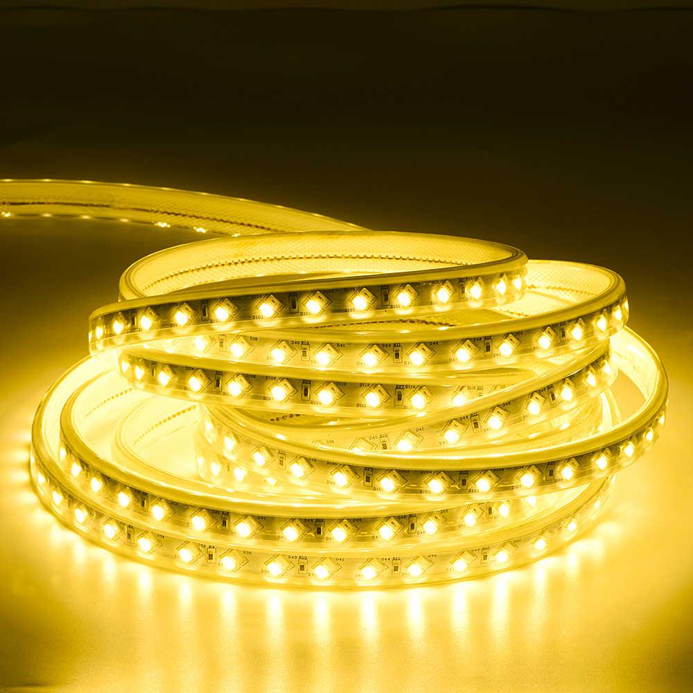 220V LED bande 5050 haute luminosité bande Flexible 5730 lumière LED extérieure IP67 LED rgb imperméable bande lumière réglable par télécommande