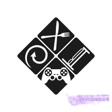 Video Game Sticker Eat Sleep Play Game Room Decal Gaming Posters Gamer Vinyl Wall Decals Parede Decor Mural Video Game Sticker(China)