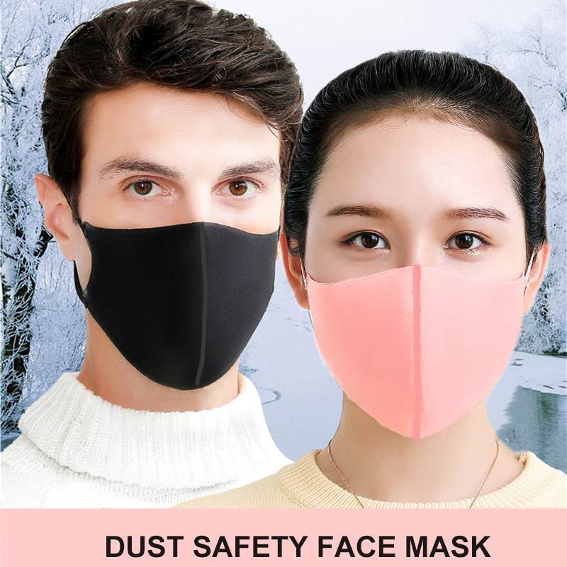 Gray Pink Black Fashion Anti-haze Sunscreen Outdoor Cycling Dust Anti Smog Protection Face Masks  Protective Respirator