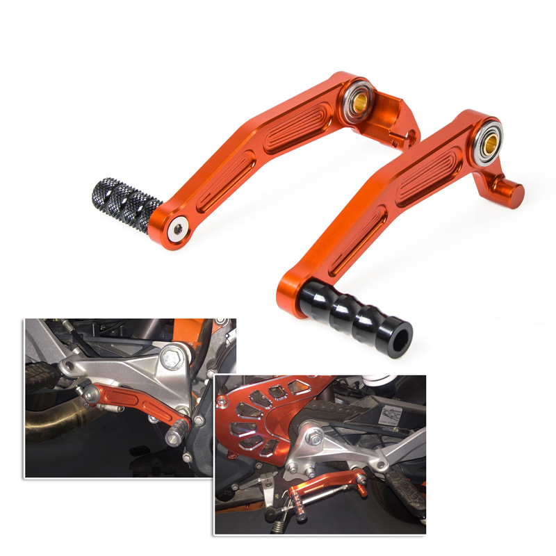 NICECNC Brake Gear Shift Pedal Levers Foot Peg Rests For KTM 125 200 390 Duke 2013-2015 RC125 RC200 RC390 2014-2016 Street Bikes