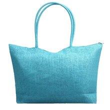 Handbag Women Bag 2019 Luxury Designer Simple Candy Color Large Straw Beach Casual Shoulder bolsa feminina sac main femme 2