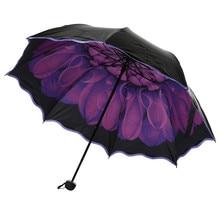 Пляжный зонт складной защита от дождя и ветра зонтик складной Анти-УФ зонт от солнца/дождя компактный зонтик для путешествий на открытом воздухе Лучшая цена