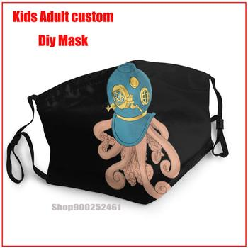 Hip Hop Octopus In A Scuba Mask DIY face maks fashion harry mask washable reusable adult designer - discount item  50% OFF Mask