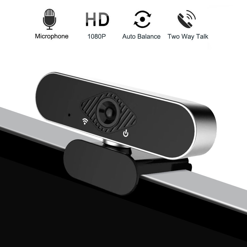 Mini Webcam 1080P HD USB Web Camera With Microphone With110-Degree View Laptop Web Cameras For Online Teaching Conference