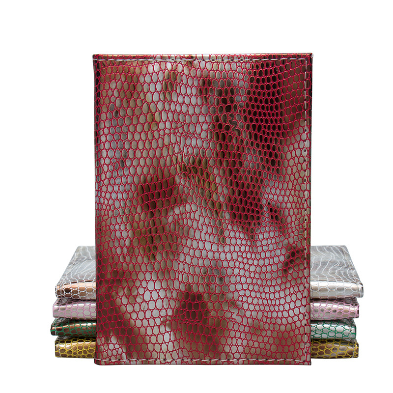 Jiexi Python Snakeskin Pattern PU Leather Passoport Cover Case Holder Wallet Travel Accessories Passport Cover ZSPC61