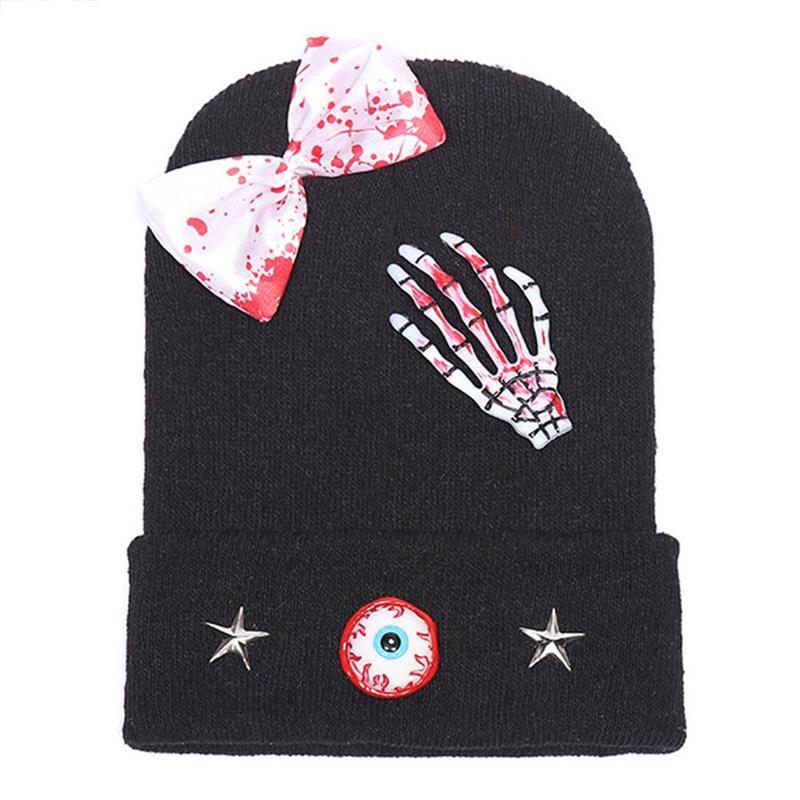 Warm Hat Blood-Hat Skull Knit Halloween Adults Children Arrangement-Props-Cap Decoration