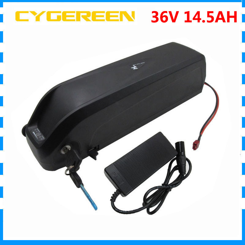 Down tube Hailong battery 36V 14.5Ah electric bicycle battery 36V 15AH with 42V 2A Charger USB Port Use for samsung cell 30A BMS