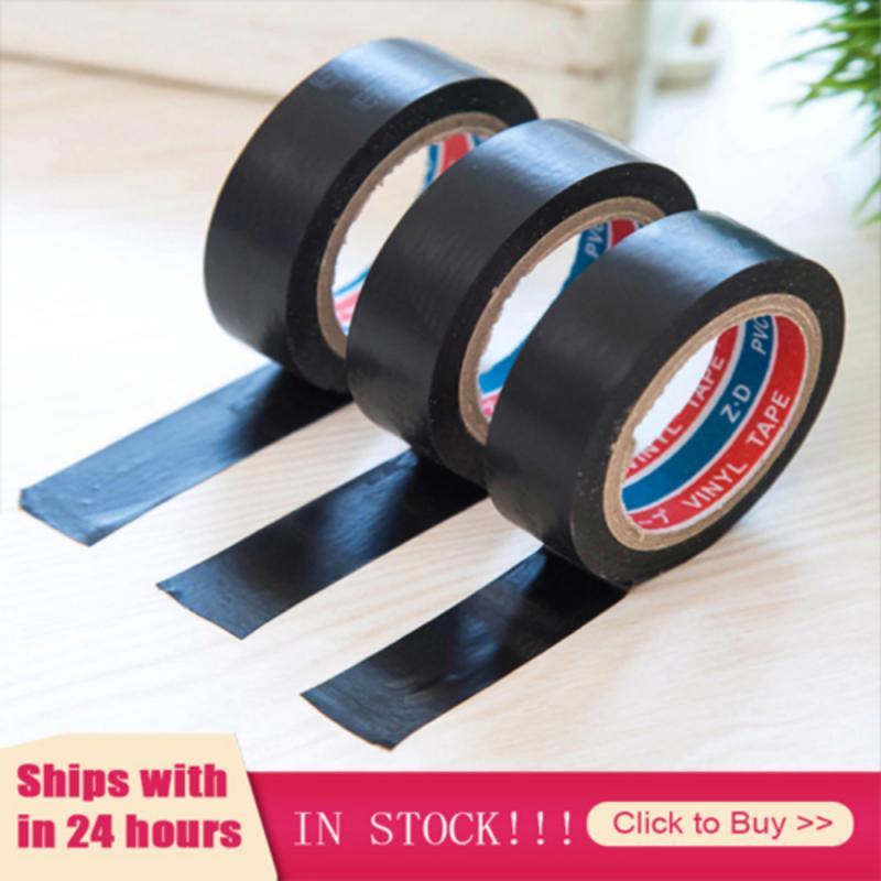 Hot 1pcs Black Tape Electrician Wire Insulation Flame Retardant Plastic Tape Waterproof Self-adhesive Tape Home Improvement 2