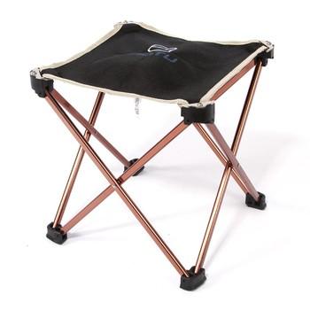 Krzesła kempingowe składane krzesło wędkarza lekkie krzesło piknikowe aluminiowe przenośne stołek meble ogrodowe ogrodowe ogrodowe tanie i dobre opinie Aotu 320g 23*23*25cm 9 05*9 05*9 84in 6061 Aluminum Alloy + Oxford Cloth Aluminium frame Easy to carry high-quality oxford cloth