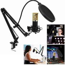 promotion original new isk bm 800 professional recording microphone condenser mic for studio and broadcasting without carry case Bm-800 Condenser Microphone Kit Broadcasting Studio Recording Professional Mic Practical Portable Microphones