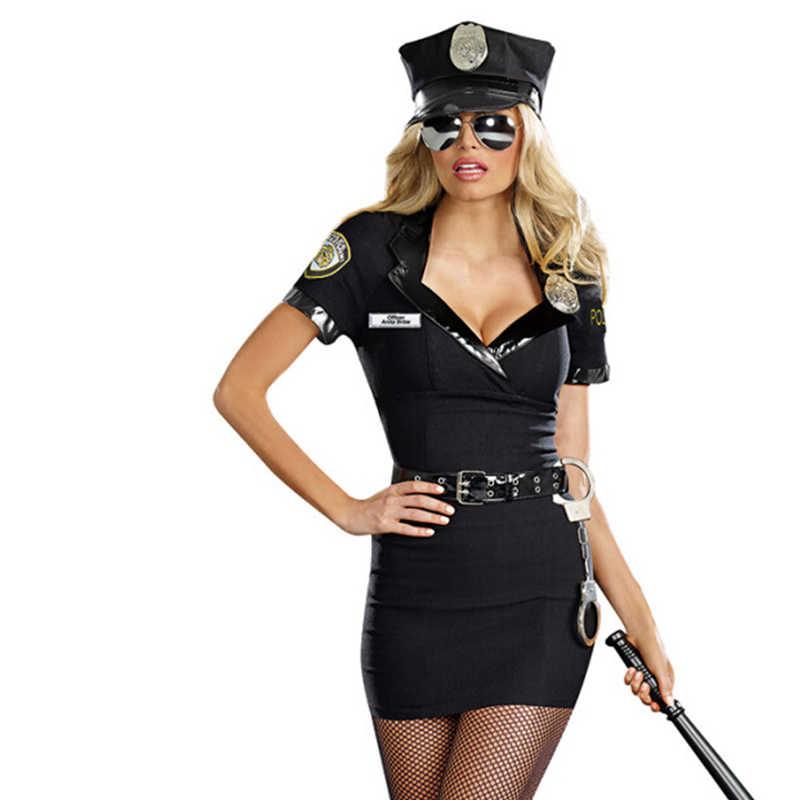 Disfraz De Oficial Sexy Para Mujer Uniforme De Talla Grande Ropa Para Discoteca Policía Fantasía Erótica Cosplay Carnaval Halloween Vestido De Fiesta Trajes De Festividades Aliexpress