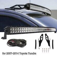 """Dak Montagebeugel Voor Toyota Tundra 2007 2014 Met 50 """"288 W Gebogen LED Light Bar Gratis Draad harnas"""
