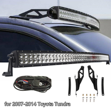 "Roof Mounting Bracket For Toyota Tundra 2007 2014 With 50"" 288W Curved LED Light Bar Free Wire Harness"