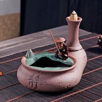 Old Man Smoke Waterfall Incense Sticks Holder Aromatherapy Furnace Mountain Handicraft Backflow Incense Burner Incense Holder