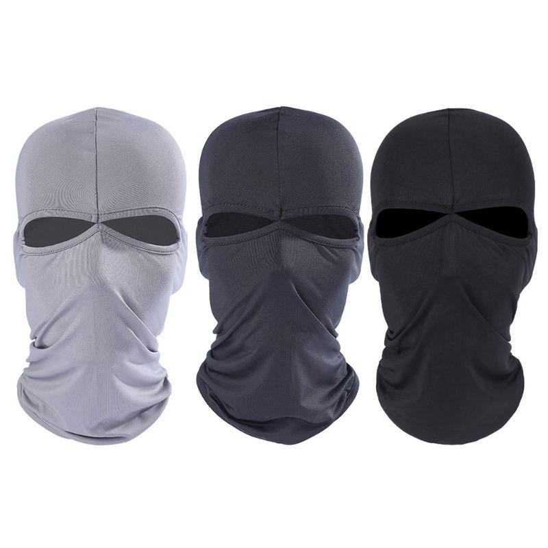 Men Unisex Motorcycle Full Face Mask Cycling Ski Shield Balaclava Breathable Milk Fiber Protector Ultra Thin Windproof Warmer Su