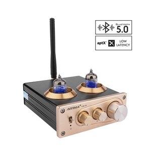 Image 1 - Aiyima Bluetooth 5.0 APTX Hifi 6J1 Ống Màu Preamp Bộ Khuếch Đại Âm Thanh Nổi Tiền Khuếch Đại Với Bass Treble Kiểm Soát Cho Nhà Âm Thanh Âm Thanh