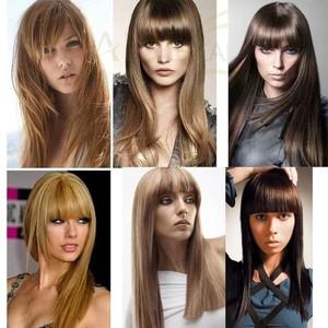 Image 5 - Aisibeauty 긴 합성 가발 264colors 고밀도 자연 머리 라인 내열성 스트레이트 헤어 가발 여성을위한