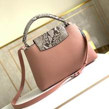 2021 women's high-quality handbags snakeskin and cowhide leather famous designer one-shoulder handbags ladies wallets
