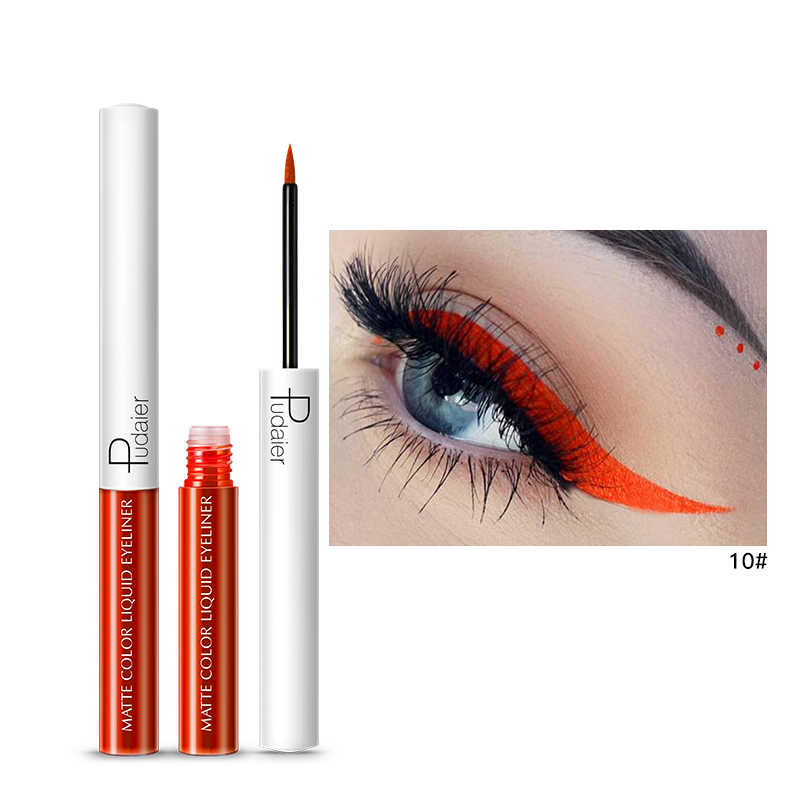 Pudaier 15 اللون متعدد الألوان طويلة الأمد محدد العيون السائل مقاوم للمياه أقلام ماتي العين بطانة قلم للزينة الصباغ العين قلم رصاص TSLM2