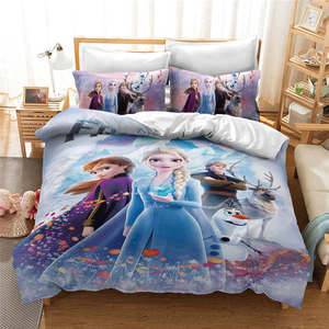 Amazing Frozen 2 Elsa Anna Quilt Duvet Cover for Girls Bedroom Decor Twin Size Bedding Set Queen King Bedspread Single Bed Linen(China)