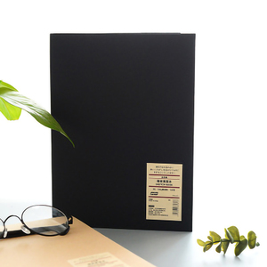 Image 2 - Simple Solid Color Kraft 16k Hardcover Sketch Book Hand painted Notebook Black Card Paper Painted Notepad