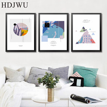 Nordic Art Home Decor Canvas Painting Wall Picture Abstract Printing Poster for Living Room  DJ401