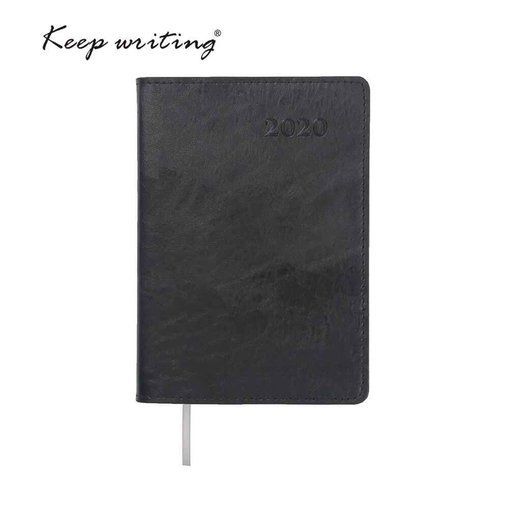 2020 Calendário Planejador Semanal A6 Diário Notebook 106 folhas de papel 80gsm escola papelaria pequenas notas de agenda Revista livro de bolso