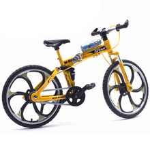 1:10 Simulation Alloy Mountain Road Bike Model Novelty Kids Toys Collection Gift Mini BMX Bicycle Adult Collection(China)