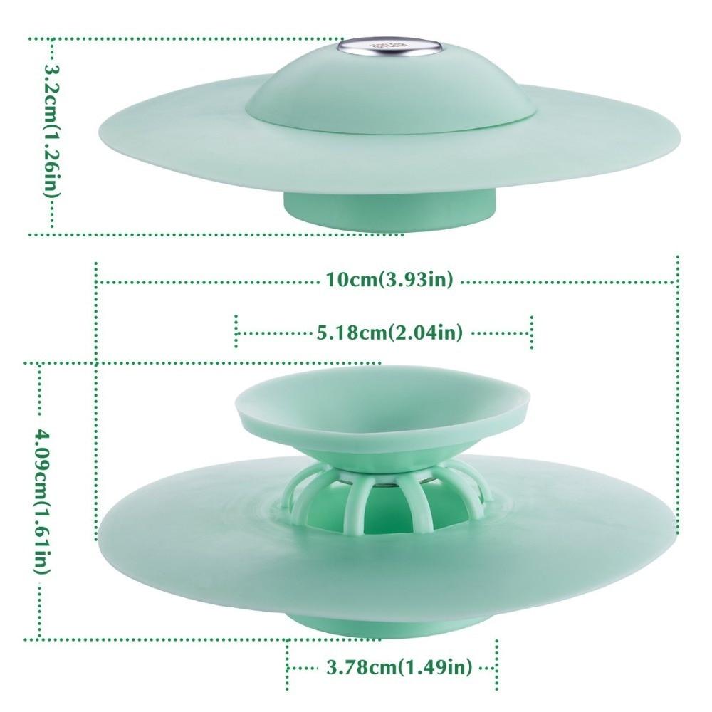 EHEH Silicone Press Drain Hair Catcher Sink Plug Strainer Stopper Household Basin Bathtub Supplies Kitchen Accessories