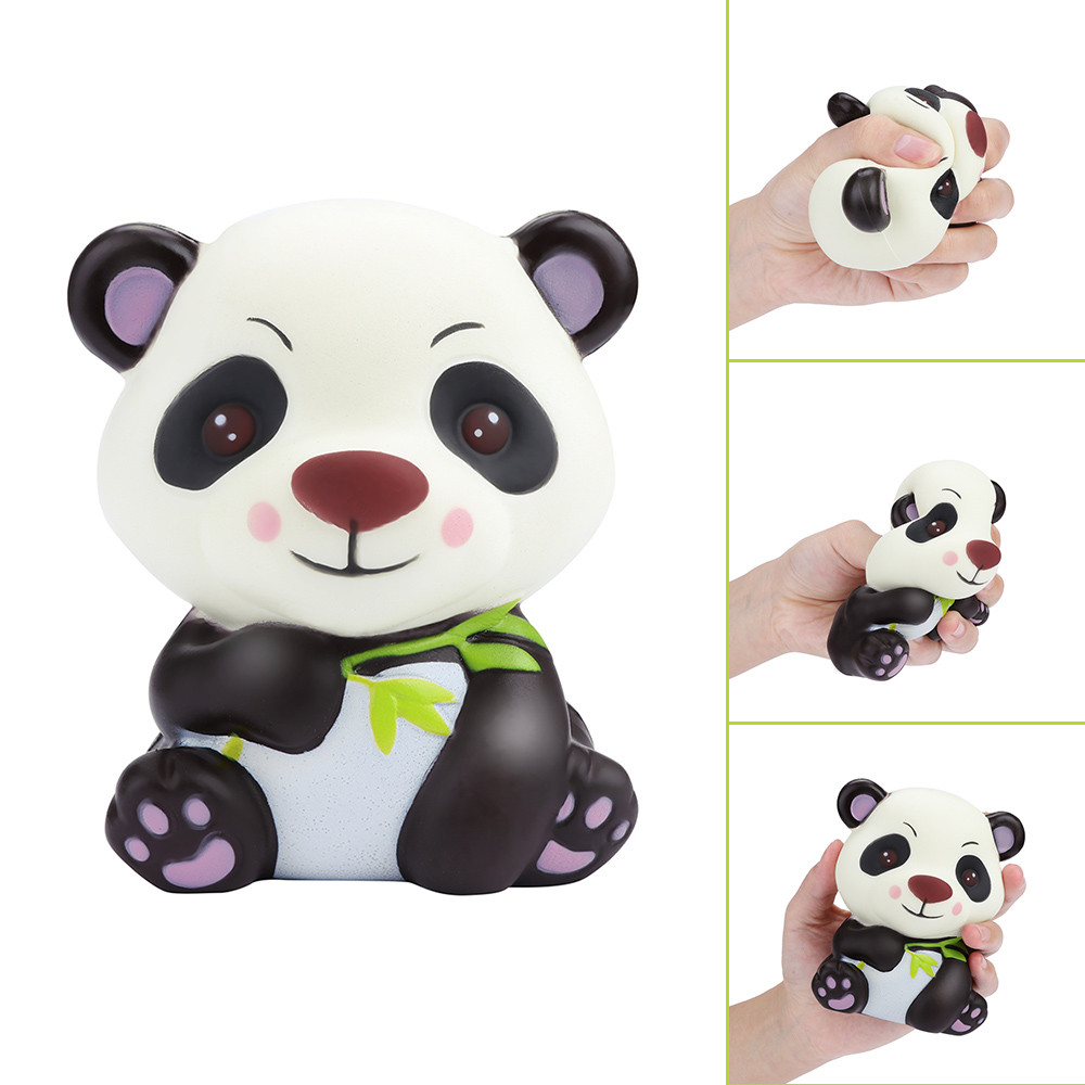 Cartoon Design Adorable Panda Slow Rising Collection Squeeze Stress Reliever Toys  Kids Kawaii Squish Antistress Toy L0116