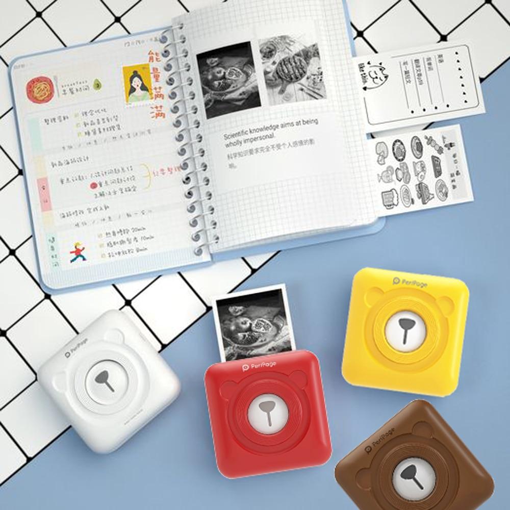 Peripage Bluetooth Mini imprimante thermique Mobile poche étiquette Portable  Photo imprimante autocollant étiquette imprimante Hungul pour téléphone  intelligent | AliExpress