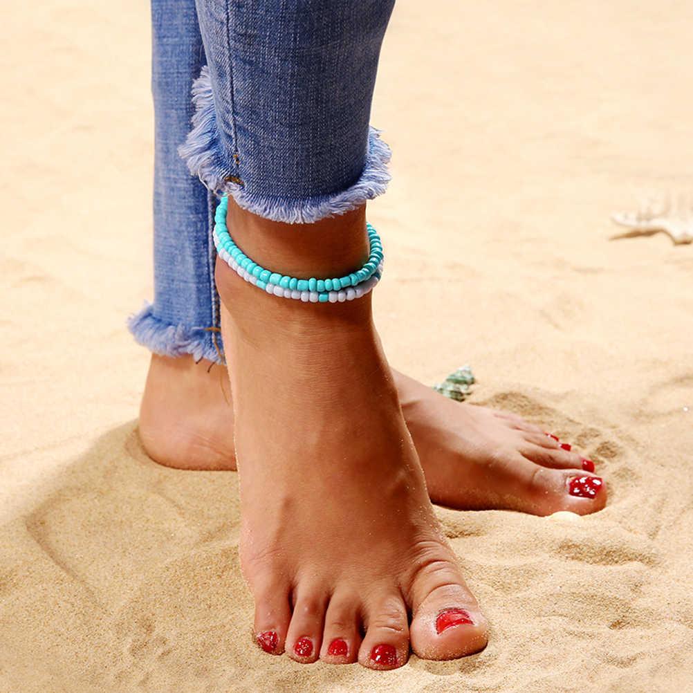 Смола женские ножные браслеты круглые модные богемное стильное пляжное браслет пляжный ножной браслет для женщин девушек