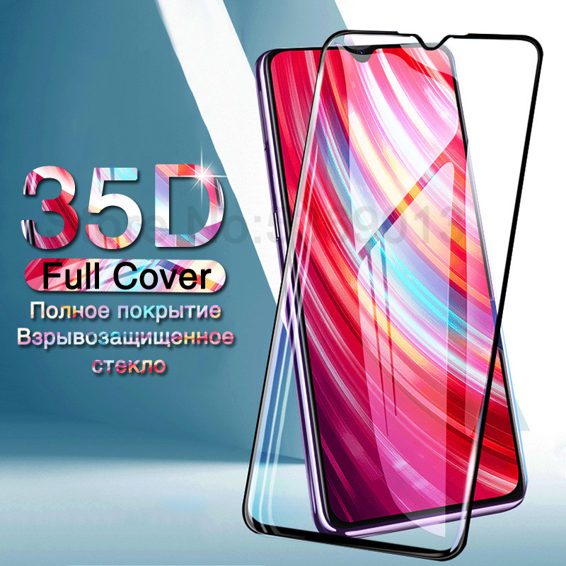 35D Protective Glass On The For Xiaomi Redmi 7 7A 6 Pro 6A S2 K20 Redmi Note 8 7 6 Pro Tempered Screen Protector Glass Film Case