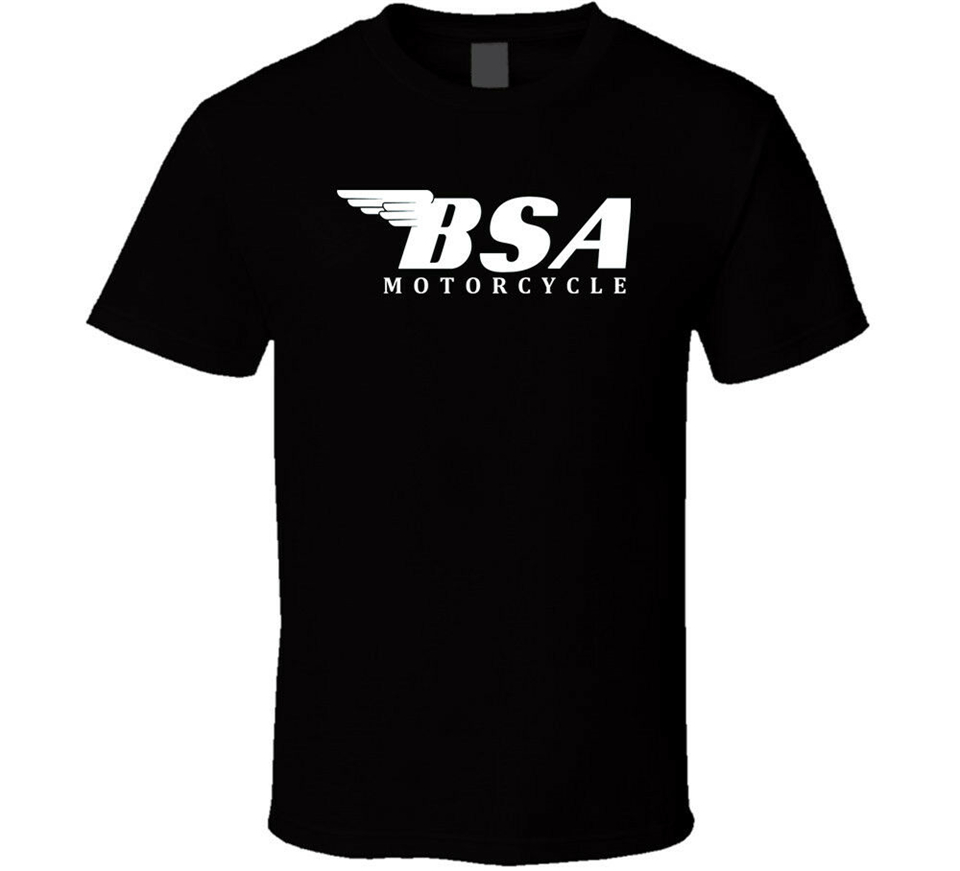 New <font><b>Bsa</b></font> British Classic Motorcycle <font><b>Shirt</b></font> Black White Tshirt Men'S Free Shipping Birthday Gift Tee <font><b>Shirt</b></font> image