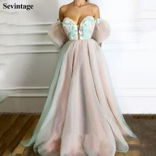 Шикарное платье sevintage с открытыми плечами и короткими рукавами