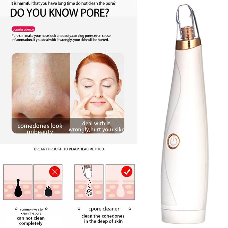Pore Cleaner Blackhead Remover Vacuum Electric Nose Face Deep Cleansing Acne Pimple Removal Machine Skin Care Beauty Tool