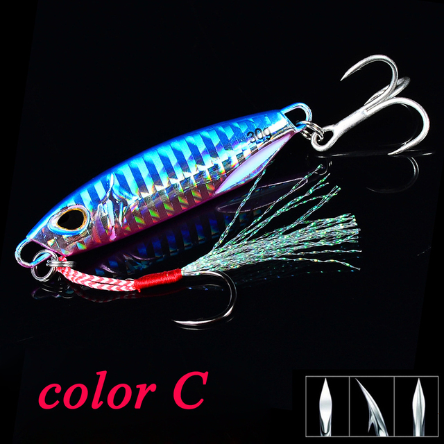 POETRYYI Metal Jig Spoon Lure 10G 15G 20G 30G Artificial Bait Shore Slow Jigging Super Hard Lead Bass Fishing Tackle