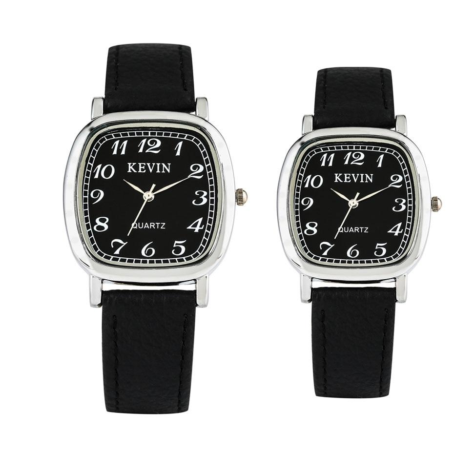 Classic Arabic Numerals Display Quartz Timepiece Lovers Watches Leather Watchband Casual Men Women Couple Wristwatch Reloj 2019