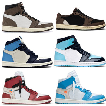 New Basketball Shoes 1 Travis Scotts 1s Black Court Purple Royal Bred Toe NC Obsidian UNC Designer Sneakers Trainers