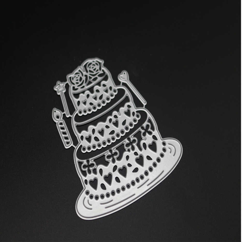 Corte de pastel de cumpleaños troqueles MARCO DE VELA cortado troquelado Metal Tarjeta de molde repujado para álbum de recortes papel artesanal cuchillo molde de cuchilla perforadora de plantillas