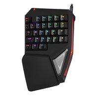 Delux gaming mini keyboard T9 Pro/t9 plus mechanical wired Professional keyboard 7 Color Backlit Single Hand Ergonomic Keypad